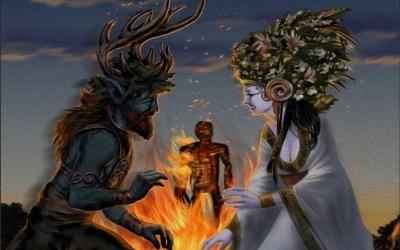 Языческий праздник Бельтайн, Вальпургиева ночь, Праздник огней, Живень день, 1 мая - просыпается стихия Земля