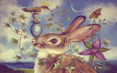 Заяц на луне, Остара кролик, Языческий праздник Остара