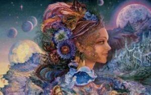 Четыре лика богини - шляпы Фрейи: богиня любви, священная блудница; богиня-воительница; богиня плодородия; мудрая старуха, владычица сейда