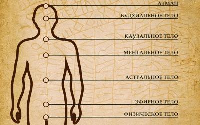 Структура сознания, семь тонких тел человека. Функции подсознания, сознания и сверхсознания