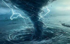 ВОДА—ВОЗДУХ К ЗЕМЛЕ Акаузальное течение времени с тягой проявления на Земле.Хаос, разрушение, стирание информации, памяти, чистильщики
