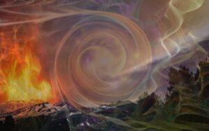 Эффекты проявления стихий: принцип равновесия, равноценности, равноправия Огня и Земли. Включённая аджна - показатель равновесия стихий